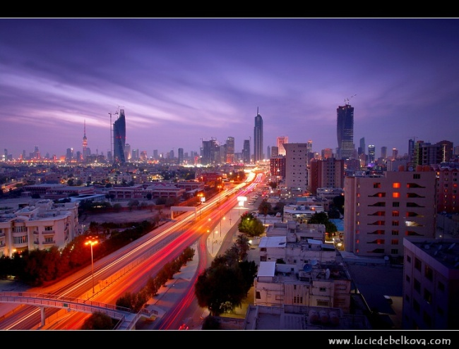 KUWAIT CITY AT SUNSET