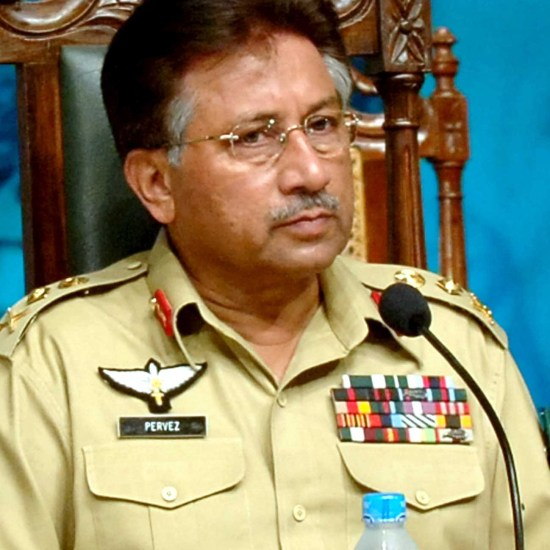 In this photo released by the Press Information Department, Pakistan President Gen. Perverz Musharraf in Lahore, Pakistan.
