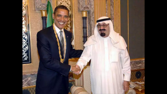 President Barack Obama and Saudi Arabian King Abdullah