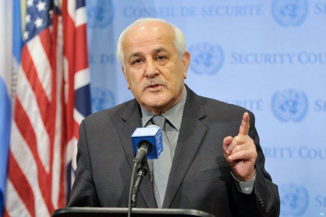 Palestinian Riyad Mansour, UN Envoy