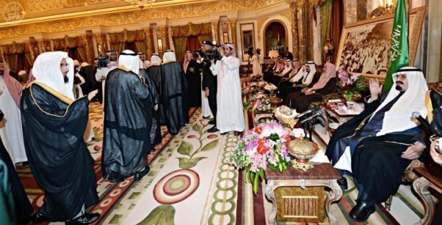 King Abdullah swearing in new Shura Council member