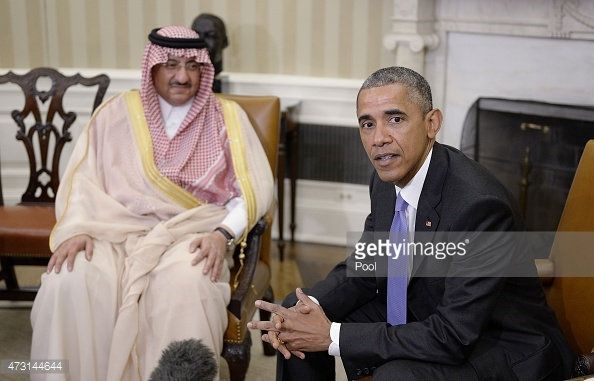 Crown Prince Mohammed Bin Nayef and President Obama