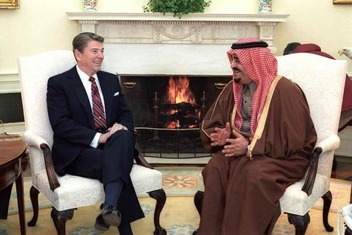 President Reagan and King Fahd of Saudi Arabia