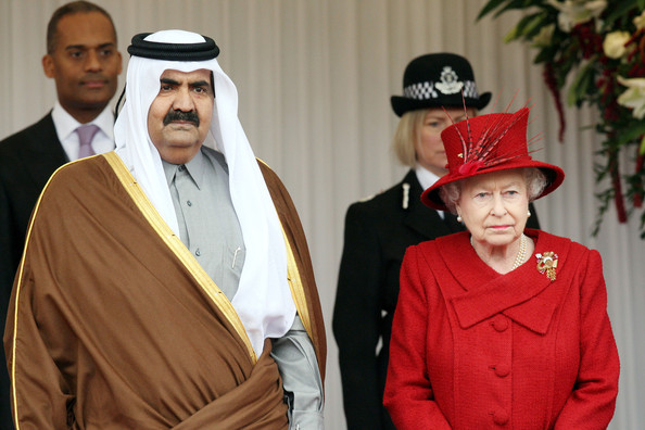 Sheikh Hamad bin Khalifa Al Thani Qatar and Queen Elizabeth