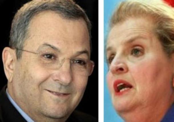 Egyptian President Ehud Barak and US Secretary of State, Madeleine Albright