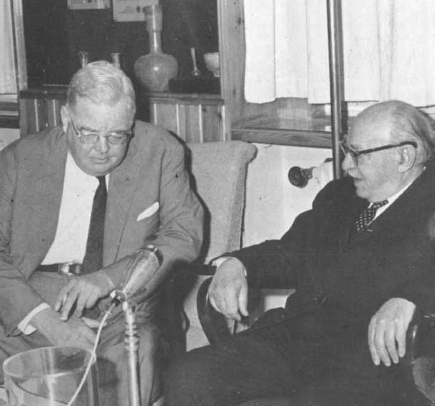 American Ambassador Walworth Babour with Israeli President Shazar
