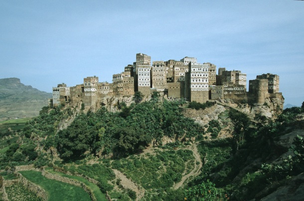 The picturesque stone village of Al-Hajjara.