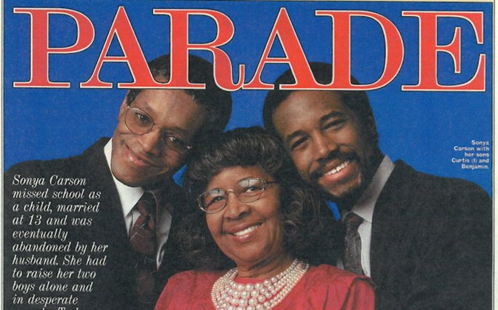 Sonya Carson with her sons, Curtis and Ben