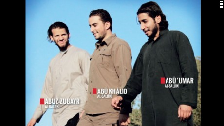 ISIS 150212214525-isis-dabiq-magazine-large-169Abdelhamid Abaaoud, right, and two ISIS recruits.