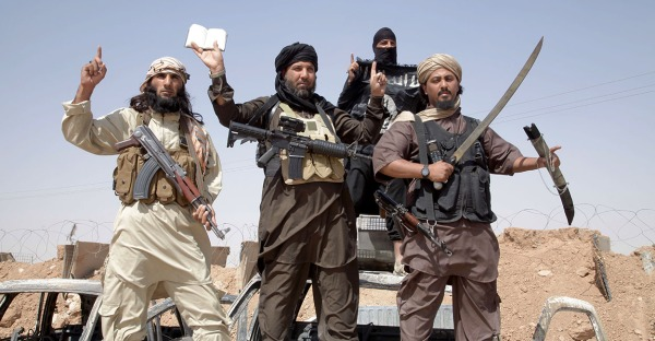 Islamic state fighters [Photo via Newscom]