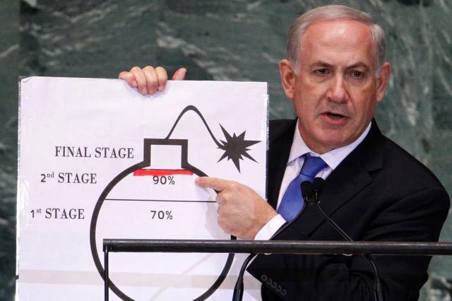 President Netanyahu presents redline graph