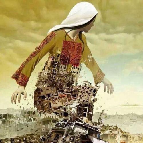 israel palestine painting Gaza