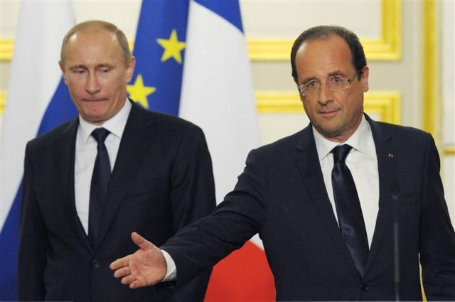 Presidents Putin and Hollande