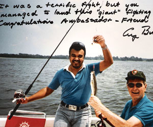 Saudi Prince Bandar fishing with former US President Bush 41