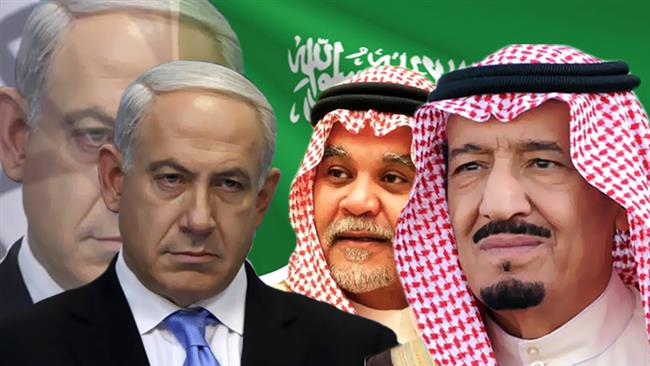 From left to right: Israeli PM Benjamin Netanyahu; Saudi Prince, Bandar; Saudi King Abdullah