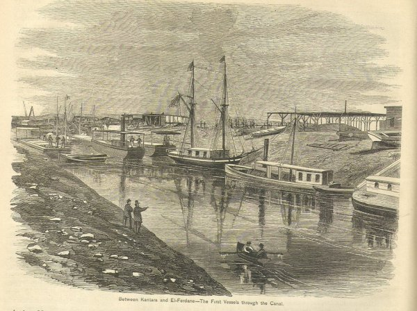 Drawing of Suez Canal