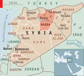 SYRIA ISSIS 20121027_MAM941 MAP RAQQA
