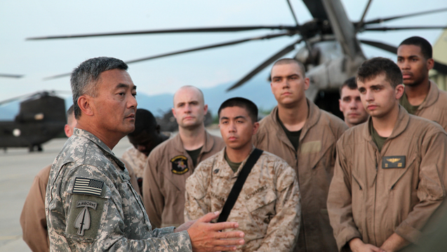 U.S. Army Major Gen. Michael Nagata (left)