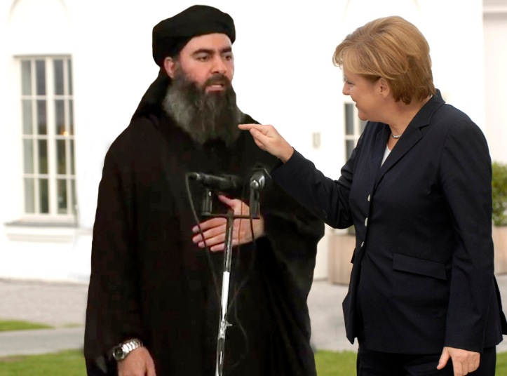 Angela-Merkel-joking-with-Abu-Bakr-al-Baghdadi.