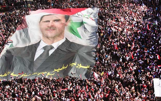 Picture of the Syrian President Bashar al-Assad