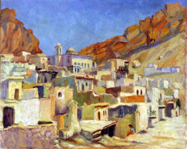 Syrian painting Malula