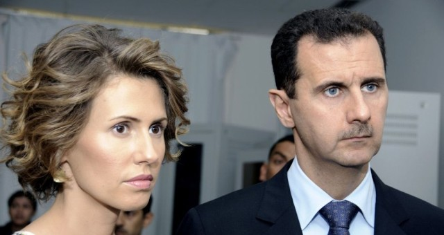 Syrian President Bashar Assad and his wife, Asma Assad