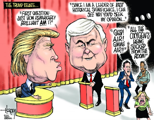 trump debate cartoon