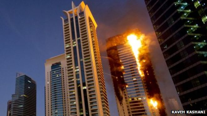 ADDRESS HOTEL FIRE STARTED AROUND 20TH FLOOR