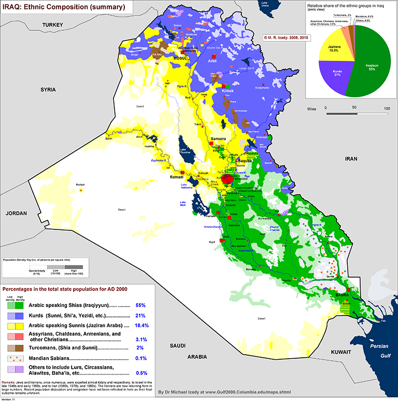 MAPS OF IRAQ AND SYRIA SHOWING LOCATION OF THE KURDS SUNNIS AND