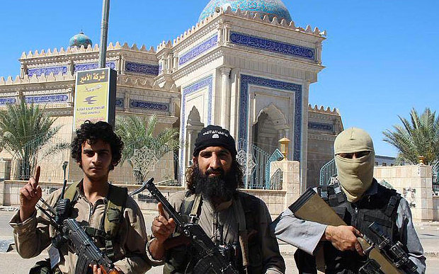 ISIL fighters in Ramadi