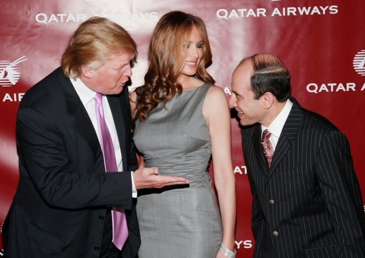 Qatar Airways CEO al-Baker on the right
