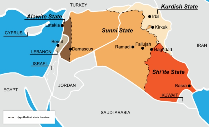 MAPS OF IRAQ AND SYRIA SHOWING LOCATION OF THE KURDS ... Saddam Hussein