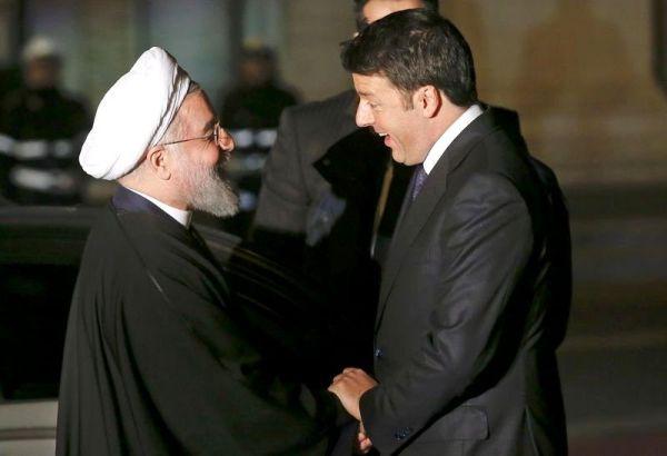 Italy's PM Renzi (right)