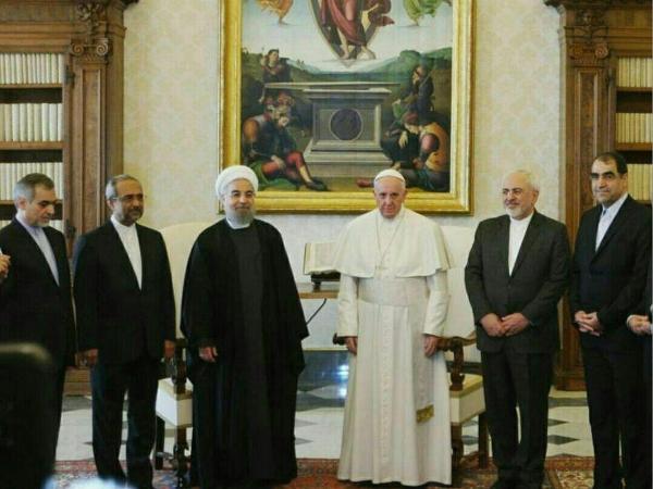 IRAN rouhani_benedikt_pope_260116