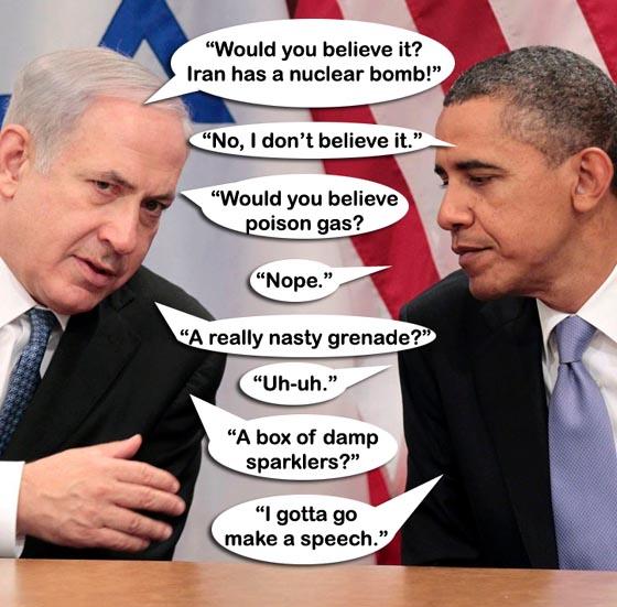 ISRAEL Netanyahu-Obama-Iran