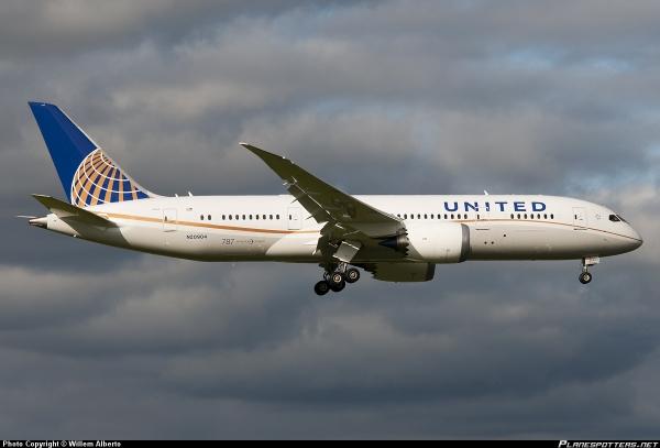 airline N20904-United-Airlines-Boeing-787-8-Dreamliner_PlanespottersNet_322481