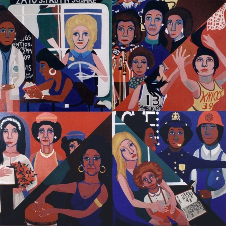 AMERICAN PEOPLES BY Faith Ringgold.