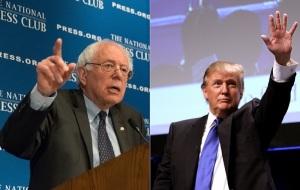 Senator Bernie Sanders and Donald Trump