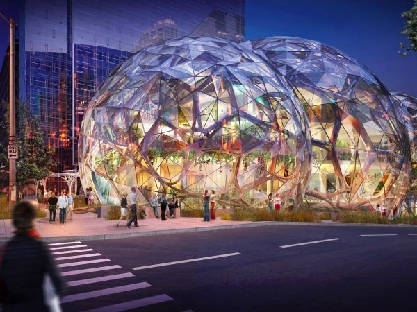 Amazon's New Headquarters is under construction