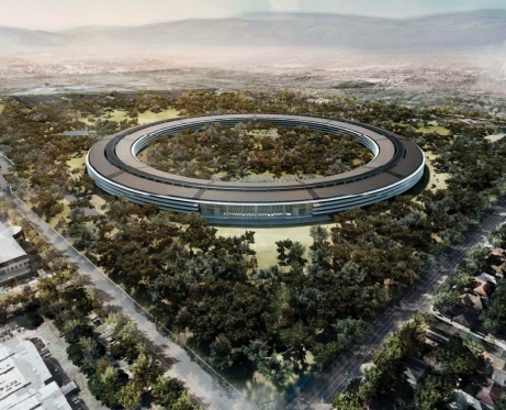 Ariel view of Apple Headquarters