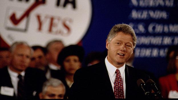 President Bill Clinton in 1993