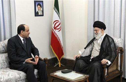 PM Nouri al-Maliki and Ali Khamenei of Iran