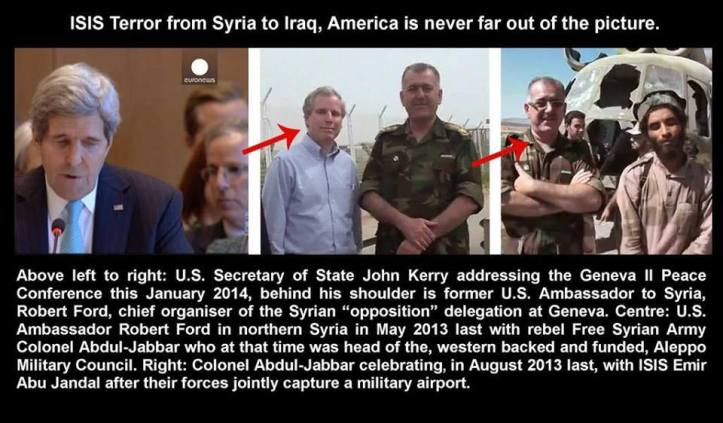 SYRIA GREAT CHOICE US-ambassador-Kerry's-Robert-Ford-with-FSA-and-ISIL-terrrorists