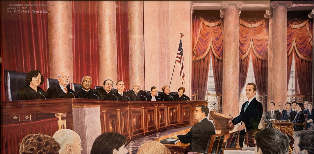 antonin scalia supreme ct ReedOralArgumentSketchSCOTUS