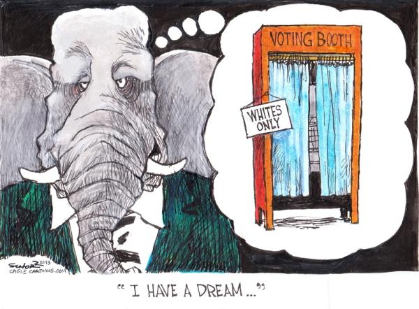 cartoon..dream abt barring black votegopdream