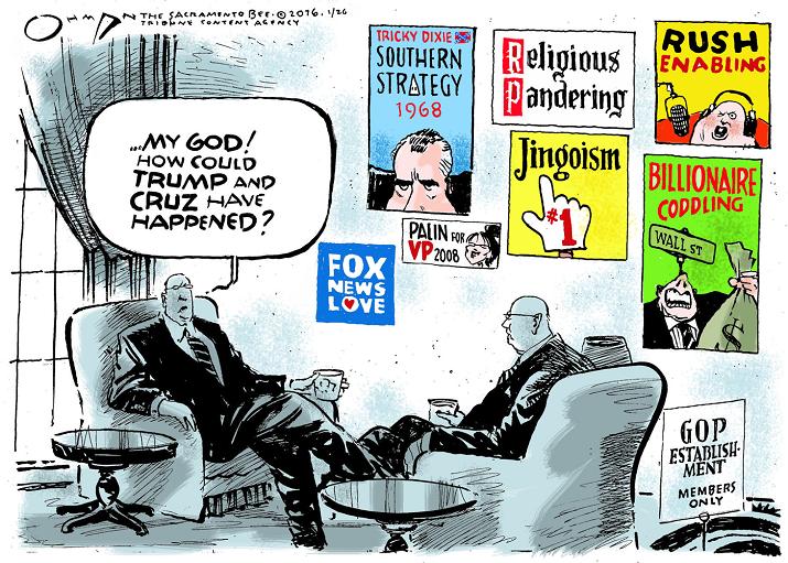 cartoon must do cartoon..how trump cruz created by racism anger