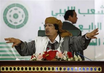 Libya's leader Muammar Gaddafi in Tripoli March 2, 2011. REUTERS/Ahmed Jadallah
