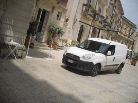 Excursion Sicily tour company's typical van.