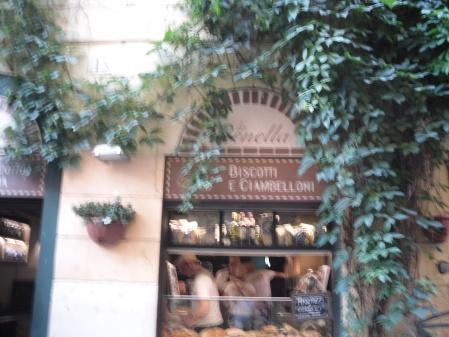 Forno La Renella in Trastevere is where we ate pizza