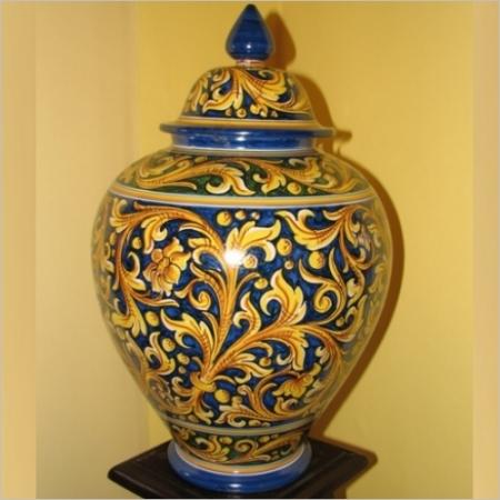 Vase made in Caltagirone-